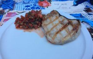 Zwaardvisfilet op de big green egg bbq weber recept zwaardvis