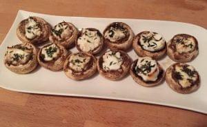 champignons met geitenkaas en tijm van de bbq big green egg bbq geitenkaas tijm recept