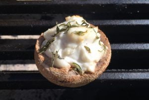 champignons op de Big Green Egg recept BBQ