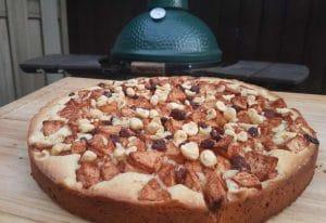 Recept van Appeltaart van de Big Green Egg BBQ recept vanille vanille ijs