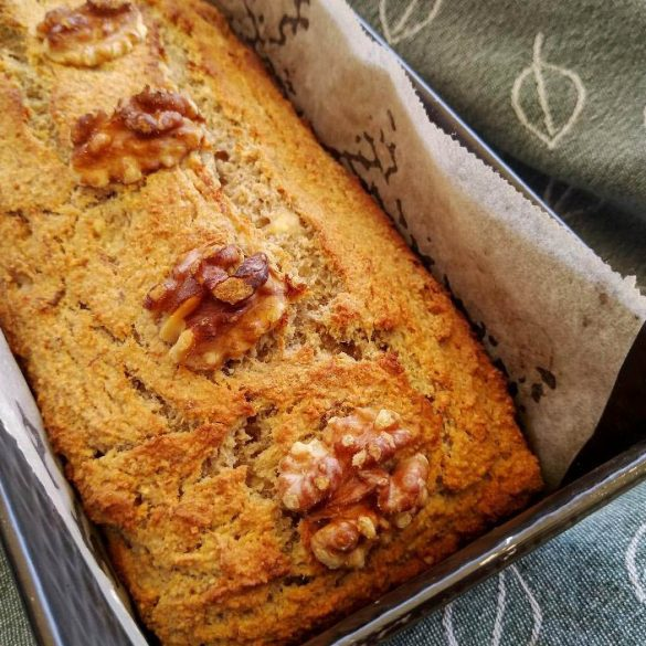 glutenvrije bananenbrood recept zonder gluten banaan brood walnoten kaneel recept