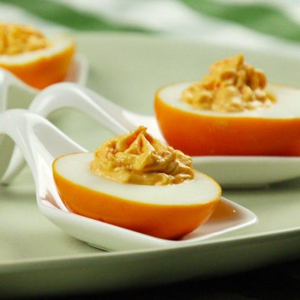 gevulde eieren met peppadews ei eieren vullen sweet