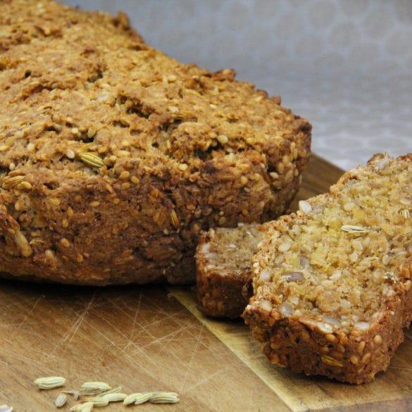 glutenvrij zaden brood bakken zonnebloem pitten venkelzaad