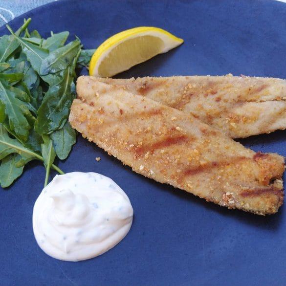 Gegrilde haring van de BBQ Big Green Egg recept vis mr and ms in the kitchen