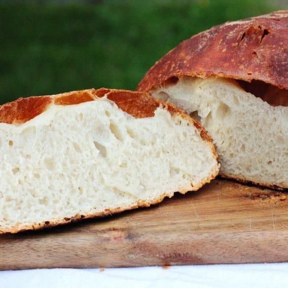 no knead bread uit de dutch oven BBQ Big Green Egg brood zonder te kneden bijgerecht bakken mr and ms in the kitchen